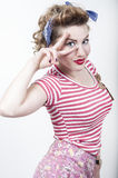 Beautiful pin-up girl stock images