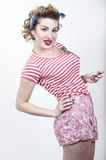 Beautiful pin-up girl royalty free stock photo
