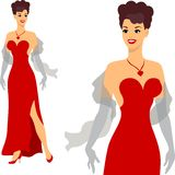 Beautiful pin up girl 1950s style Royalty Free Stock Images