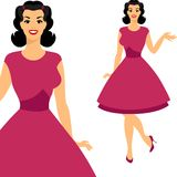 Beautiful pin up girl 1950s style Royalty Free Stock Image