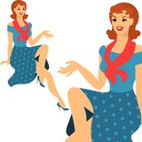 Beautiful pin up girl 1950s style Royalty Free Stock Photos