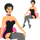 Beautiful pin up girl 1950s style Stock Images