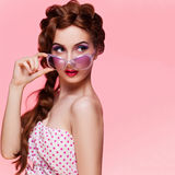 Beautiful pin-up girl Stock Images