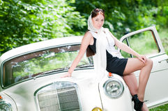 Beautiful pin-up styled girl Stock Photo