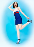 Beautiful pin up woman Stock Images