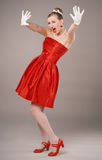 Beautiful Pin-up Young Woman Royalty Free Stock Image