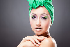 Beautiful pin-up young woman Stock Photography