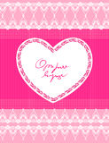 Beautiful pink background with heart Stock Images