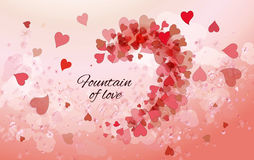 Beautiful pink background with hearts Royalty Free Stock Images