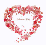 Beautiful pink background with hearts Royalty Free Stock Image