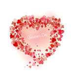 Beautiful pink background with hearts Stock Photography