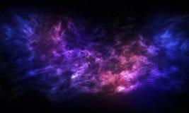 Beautiful Nebula in Galaxy. Beautiful Pink and Blue Nebula in Galaxy, Universe on Black Background royalty free stock image