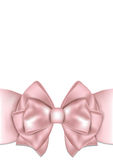 Beautiful pink bow with ribbon. Stock Photo