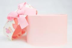 Beautiful pink box isolated on white background Royalty Free Stock Image
