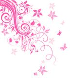 Beautiful pink card Stock Images