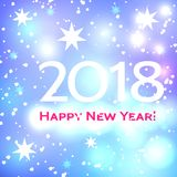 Beautiful  Happy New Year 2018 background Royalty Free Stock Photo