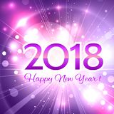 Beautiful  Happy New Year 2018 background Royalty Free Stock Photos