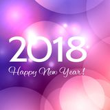 Beautiful  Happy New Year 2018 background Stock Image