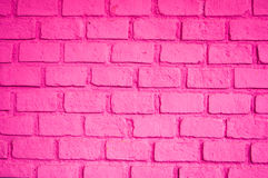 Beautiful pink color of brick wall Stock Photography