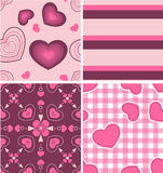 Beautiful Pink Color Pattern Combo Royalty Free Stock Photo