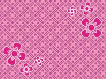 Beautiful pink flower art nature cdr motif wallpaper. Beautifull pink flower motif to backdrop or wallpaper good for dekstop vector illustration
