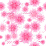 Beautiful pink flower background. Seamless pattern. Vector illus Royalty Free Stock Image