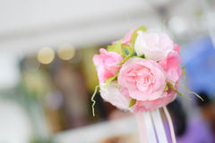 Beautiful pink flower wedding event Royalty Free Stock Photo