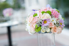 Beautiful pink flower in wedding event Royalty Free Stock Photo