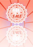 Beautiful, pink, flyer with text Big Sale with Royalty Free Stock Photo