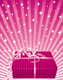 Beautiful pink gift. Stock Image