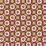 Pink and green checkered seamless pattern. Beautiful pink and green checkered pattern with irregular edge intersecting squares for textile, fabric, backdrops and vector illustration