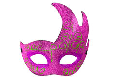 Pink Half Moon Shape Fantasy Mask Stock Images