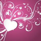 Beautiful pink heart background. Vector Illustration Stock Photo