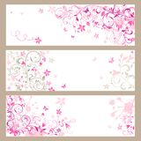 Beautiful pink horizontal banners Royalty Free Stock Photography