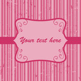 Beautiful pink invitation card Stock Photography