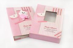 Beautiful pink kids photo album Stock Photo