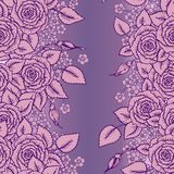 Beautiful pink and lilac seamless pattern roses Stock Images