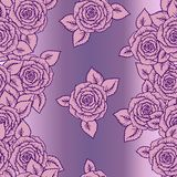 Beautiful pink and lilac seamless pattern roses Royalty Free Stock Photo