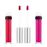 Beautiful pink lip gloss isolated on white Stock Photo