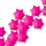 Beautiful Pink Origami Floral bouquet on white background. Royalty Free Stock Photography
