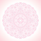 Beautiful pink ornamental background. Vector Stock Photography