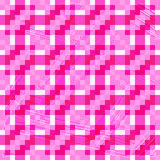 Beautiful pink pixel polygons seamless geometric background Stock Images