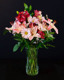 Beautiful Pink and Red Flowers in a Vase Stock Photo