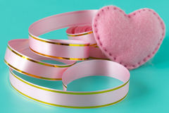 Beautiful pink ribbon Stock Images