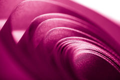 Beautiful pink ribbon in spiral form Royalty Free Stock Image