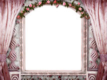 Beautiful pink room. The beautiful Background with isolated Window-Frame for your Art Stock Photos
