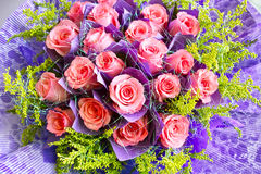Beautiful pink rose bouquet Stock Images