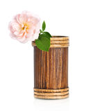 Beautiful pink rose flower in vase Royalty Free Stock Photography