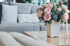 Beautiful Pink rose in living room. Royalty Free Stock Photography