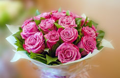 Beautiful pink roses bouquet Royalty Free Stock Photo